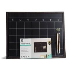 U-Brands Wood Frame Chalkboard Calendar