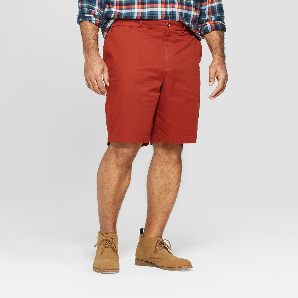 Men's Big & Tall 10.5 Slim Fit Chino Shorts - Goodfellow & Co Brick House 50, Brown