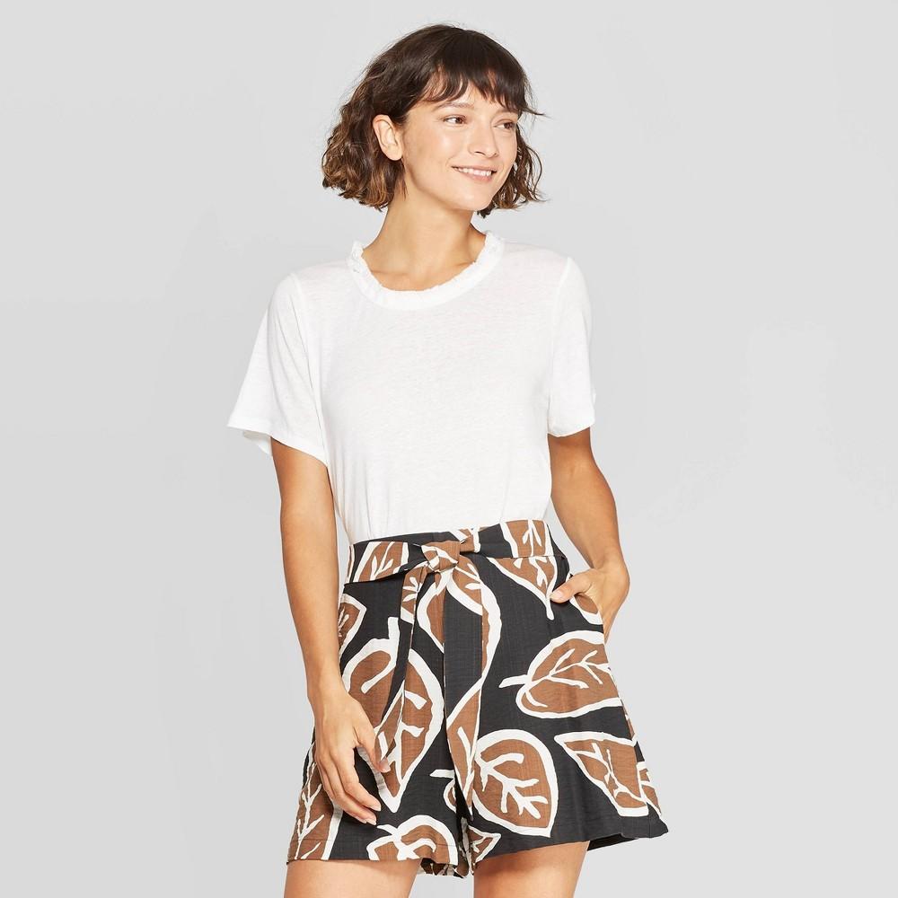 Women's Short Sleeve Crewneck T-Shirt - Who What Wear Bright White XS