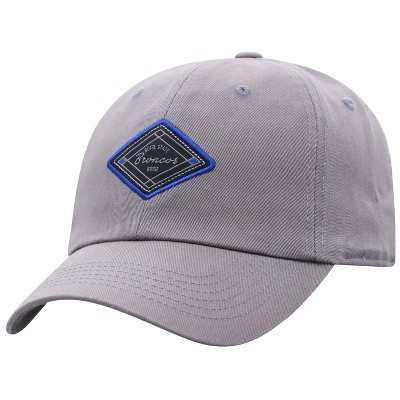 NCAA Boise State Broncos Men's Gray Washed Relaxed Fit Hat