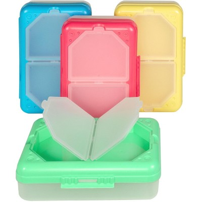 C-Line Storage Box with 3 Compartments, Colors Vary