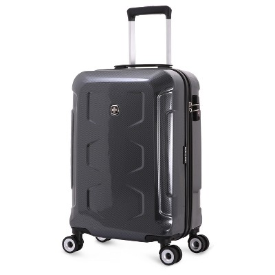 SwissGear Polycarbonate 20  Hardside Spinner Carry On Suitcase - Dark Grey