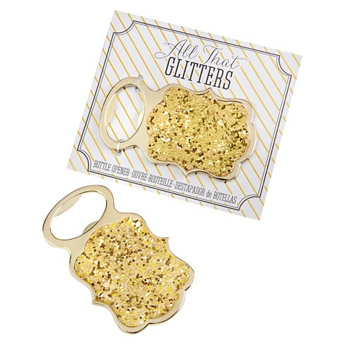 12ct Kate Aspen All That Glitters Gold Bottle Opener - image 1 of 1