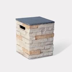 Chisholm Square Stone Propane Tank Cover - Natural - Threshold™