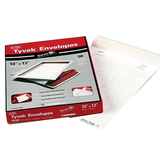 Survivor Catalog Mailers, DuPont Tyvek, #13 1/2, Cheese Blade Flap, Self-Adhesive Closure, 10 x 13, White, 50/Box - image 1 of 1
