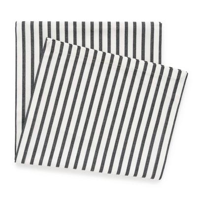 Black Stripe Table Runner, 14  x 108  - sugar paper™