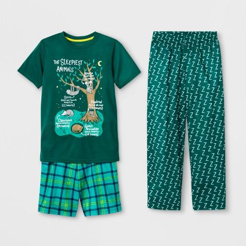 15b55b98917e Boys  3pc Sleepiest Animals Graphic Pajama Set - Cat   Jack™ Dark Green
