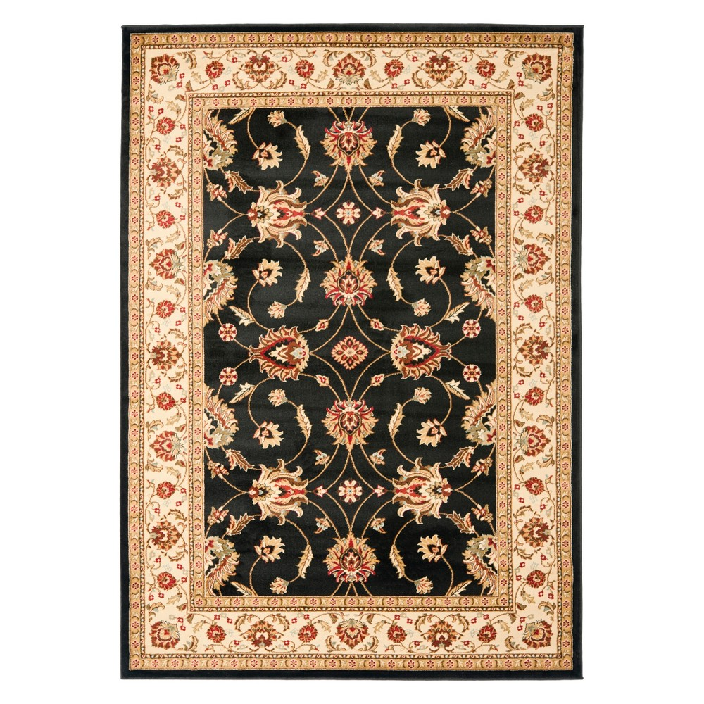33X53 Floral Loomed Accent Rug Black/Ivory - Safavieh Reviews