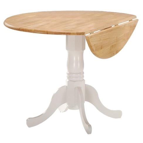round drop leaf pedestal dining table target. Black Bedroom Furniture Sets. Home Design Ideas