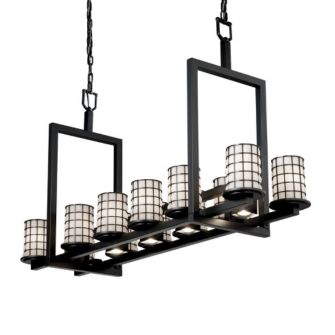 Justice Design Group WGL-8720-10-GROP Wire Glass 12 Light 1 Tier Chandelier - image 1 of 1