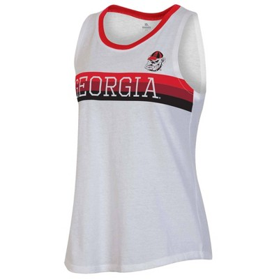 NCAA Georgia Bulldogs Women's White Tank Top