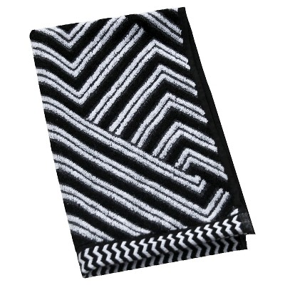 Sculpted Accent Hand Towel White/Galaxy Black - Nate Berkus™