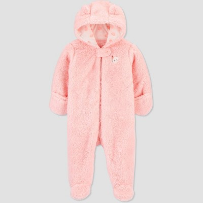 Baby Girls' Pram Cat Fashion Snowsuit Jacket - Just One You® made by carter's Pink 3M