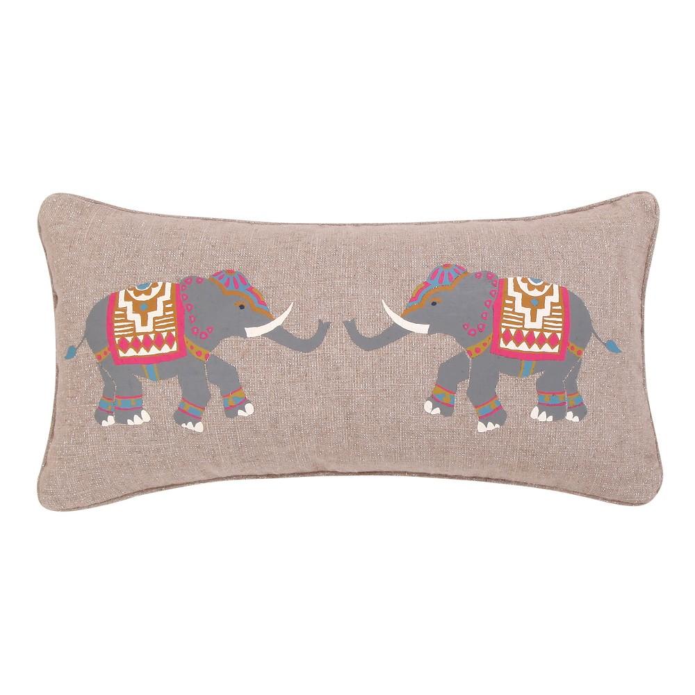 Image of 14x18 Saskia Elephant Pillow Taupe - Mudhut