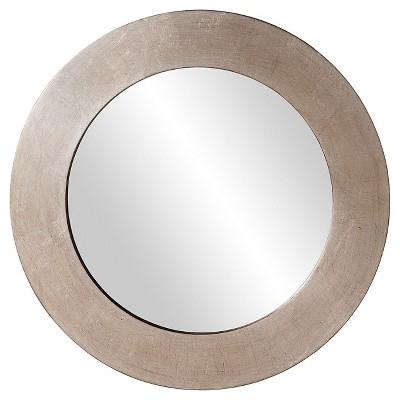 Round Sonic Decorative Wall Mirror Light Silver - Howard Elliott