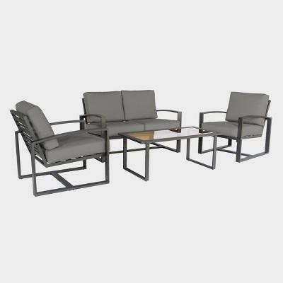 JASPER 4pc Seating Set - Gray - Leisure Made