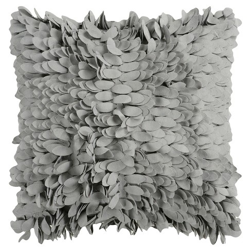Ruffle Leaves Throw Pillow - Surya® - image 1 of 1