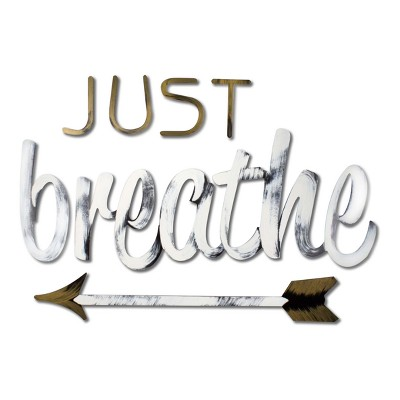 Just Breathe Bronze 26.5 x 16.5 x .25 - Letter2Word