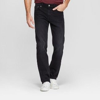 Men's Slim Straight Fit Brushed Back Jeans - Goodfellow & Co™ Black 33x30