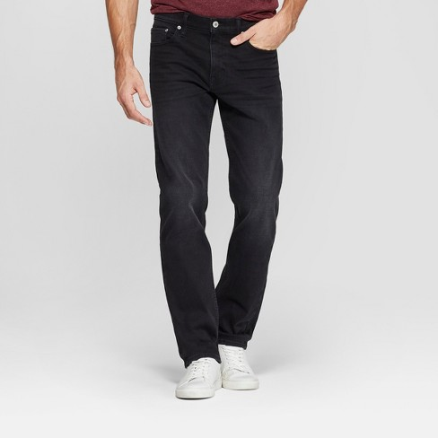 Men's Slim Straight Fit Brushed Back Jeans - Goodfellow & Co™ Black - image 1 of 4