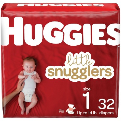 Huggies Little Snugglers Baby Diapers – (Select Size and Count)