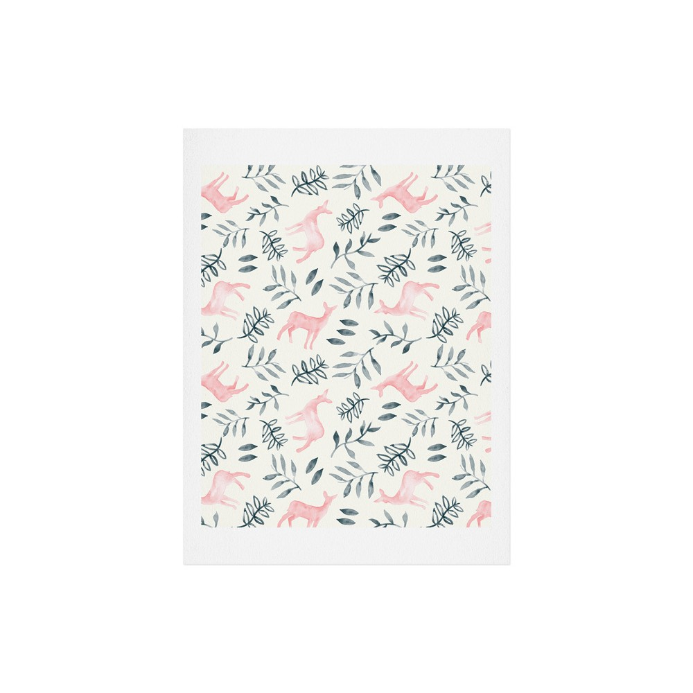 "Image of ""11""""x14"""" Little Arrow Design Co Woodland In Pink Art Print Unframed Wall Poster Pink - Deny Designs"""