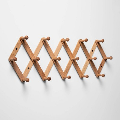 Large Wooden Accordion Hook Rail - Threshold™