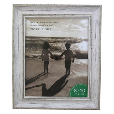"Northlight 8"" x 10"" Weathered Finish Photo Picture Frame - White - image 1 of 4"