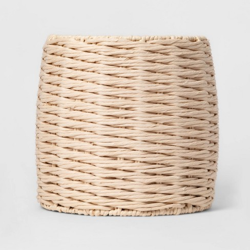 Tall Round Paper Rope Basket White - Project 62™ - image 1 of 3
