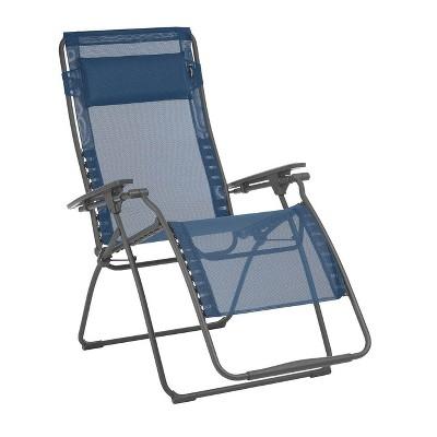 Lafuma Futura XL Zero Gravity Outdoor Steel Framed Lawn Recliner Chair, Ocean