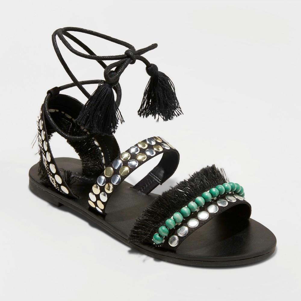 Women's Samaya Gladiator Sandals - Universal Thread Black 6