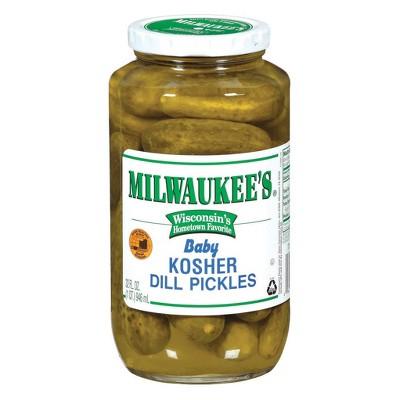 Milwaukee's Baby Kosher Dill Pickles - 32 fl oz