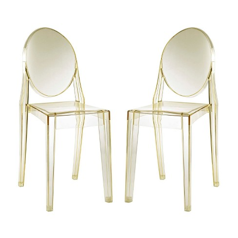 Casper Dining Chairs Set of 2 Yellow - Modway - image 1 of 5