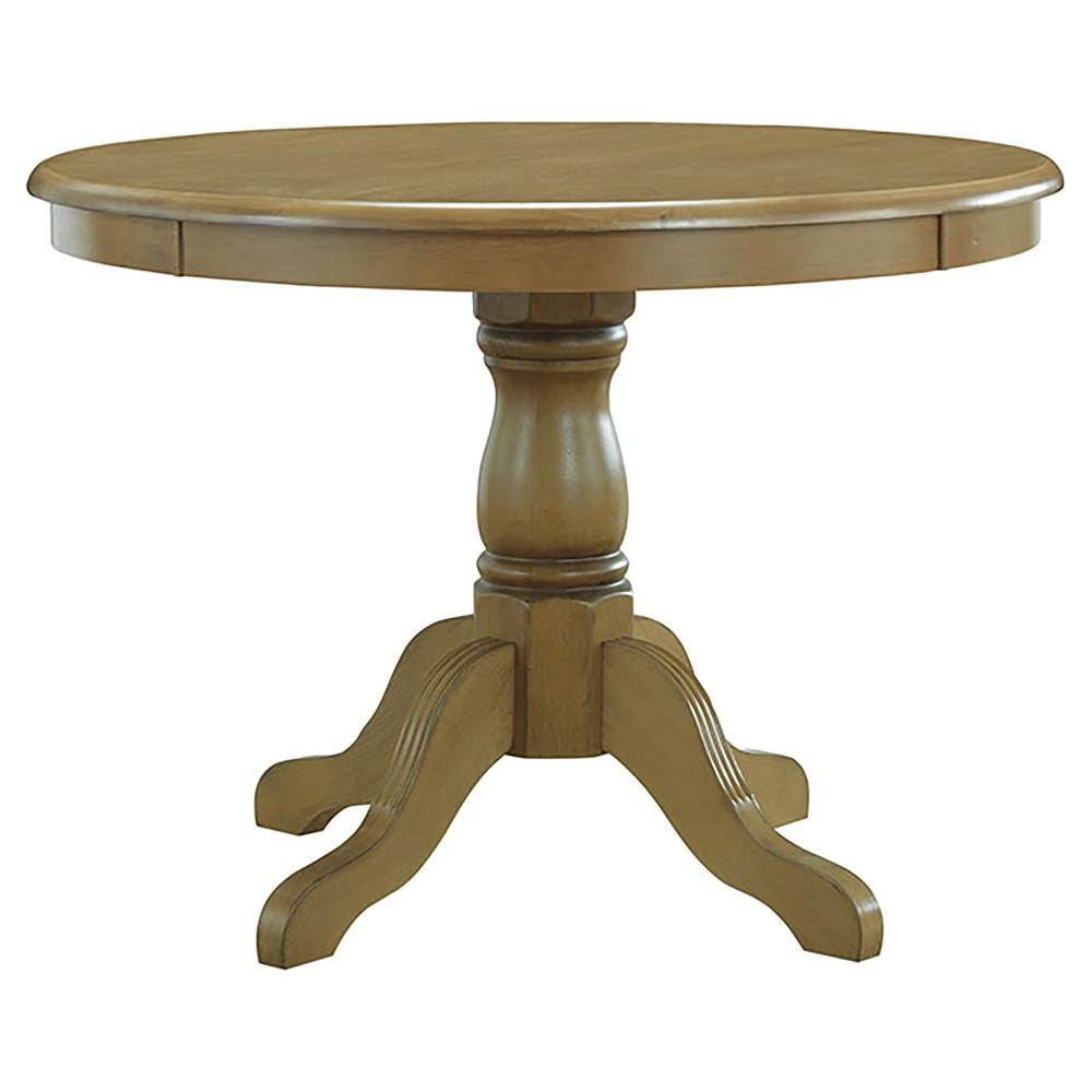 Garner Pedestal Dining Table - Harvest Oak - Carolina Chair and Table