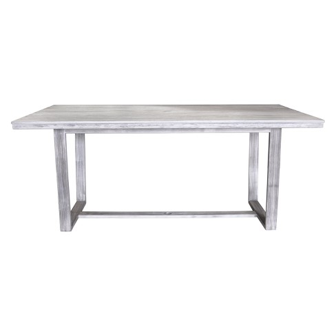 Teak Contemporary Bay Side Outdoor Rectangle Dining Table - Driftwood Gray - Courtyard Casual - image 1 of 4