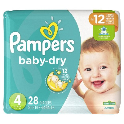 Pampers Baby Dry Diapers, Jumbo Pack - Size 4 (28 ct)