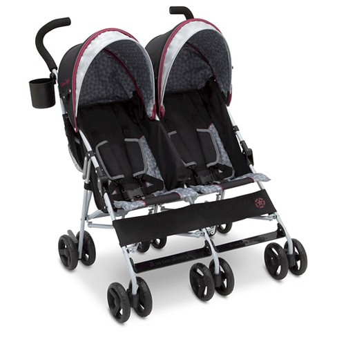 J is for Jeep Scout Double Stroller - Lunar Burgundy - image 1 of 10