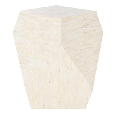 Lea Mosaic Geometric Side Table Light Beige - Safavieh