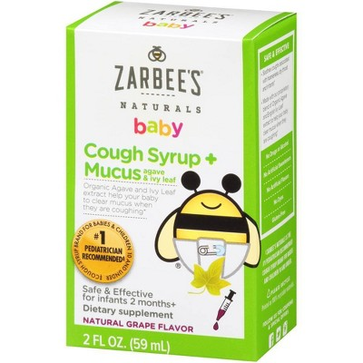 Zarbee's Naturals Cough & Mucus Reducer Syrup - Grape - 2 fl oz