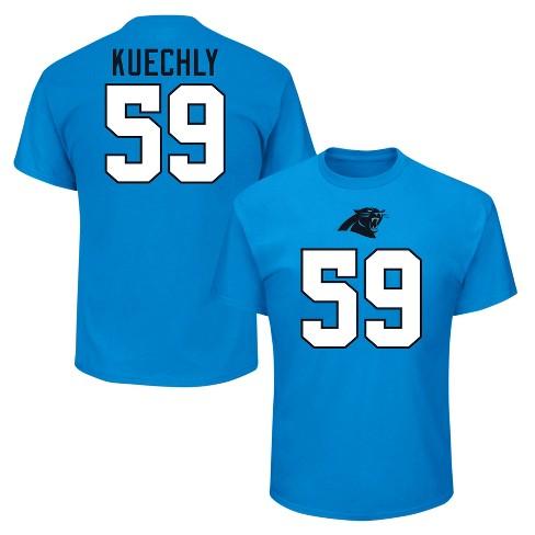 detailed look 00b3a 7ad46 Carolina Panthers Men's Luke Kuechly Jersey T-Shirt - M