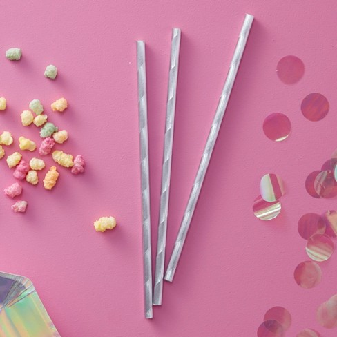 25ct Ginger Ray Iridescent Paper Party Straws Iridescent Party - image 1 of 2