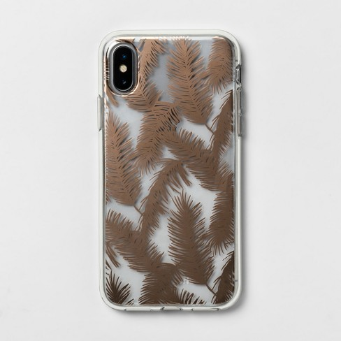 on sale c820b d40d2 heyday™ Apple iPhone X/XS Printed Feathers Case - Rose Gold