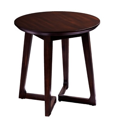 Meckland Round End Table Dark Walnut - Holly & Martin
