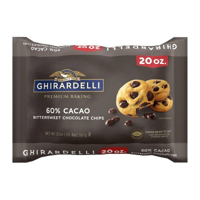 Ghirardelli 60% Cacao Bittersweet Chocolate Baking Chips - 20oz
