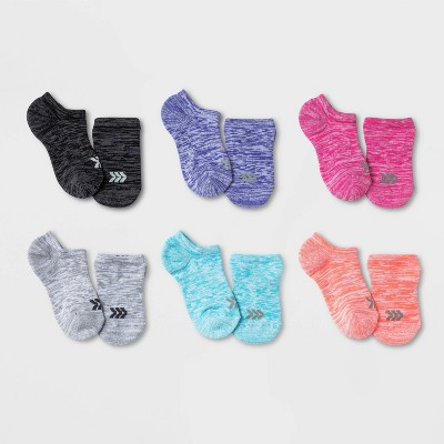 Kids' 6pk Super No Show Socks - All in Motion™ Colors May Vary