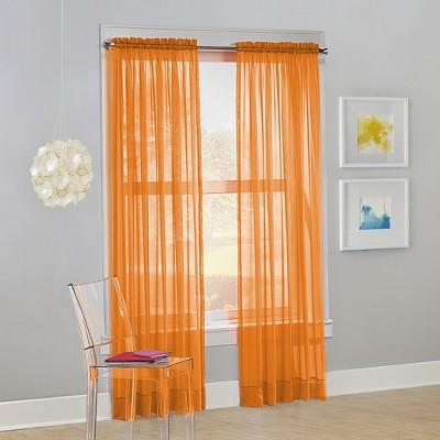 Calypso Voile Rod Pocket Sheer Curtain Panel - No. 918
