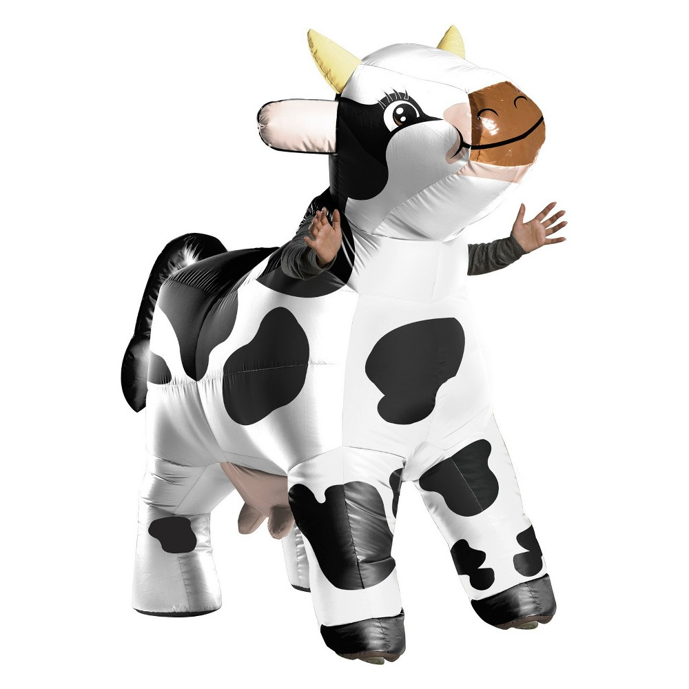 Adult Moo Moo The Cow Inflatable Halloween Costume, Adult Unisex, Multi-Colored