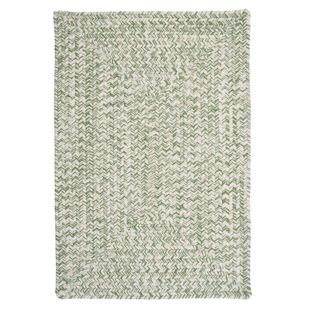 4 39 X6 39 Island Tweed Braided Square Area Rug Green Colonial Mills