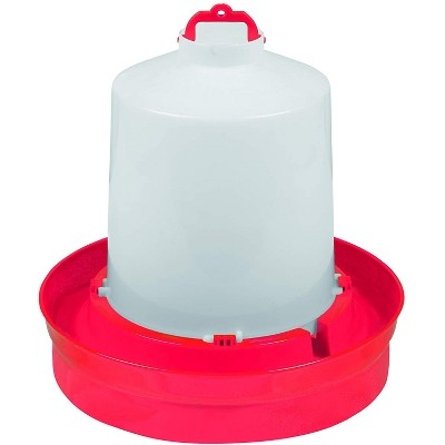 Little Giant DBW2 Deep Base Automatic Poultry Waterer Dispenser for Chickens & Birds, Red, 2 Gallon