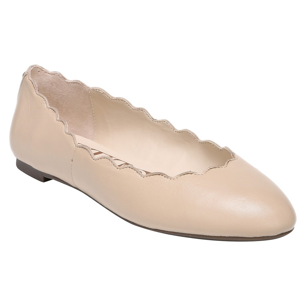 Women's Sam & Libby Capri Leather Scallop Ballet Flats - Nude 7.5